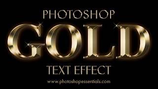 Video Photoshop Gold Text Effect MP3, 3GP, MP4, WEBM, AVI, FLV Juni 2019