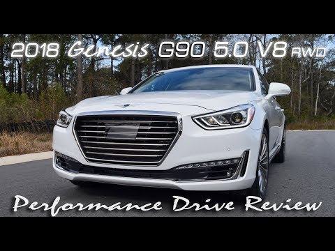 2018 Genesis G90 5.0 V8 - High Performance Drive Review