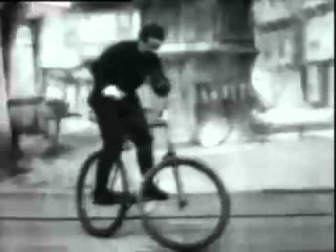 """Bicycle Trick Riding"" filmed by Thomas Edison"