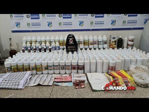PM fecha laboratório clandestina que fabricava medicamentos homeopáticos, em Ji Paraná