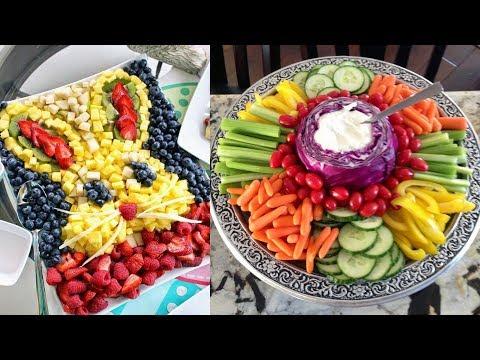 Fruit Platter Presentation Ideas   Fruit tray displays