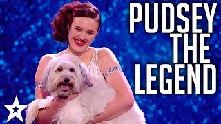 Re-live the memories of Ashley and Pudsey on Britain's got Talent 2012. RIP to one of the best Dogs on the show. Send out love in the comments below for our beloved Pudsey. Got Talent Global brings together the very best in worldwide talent, creating a central hub for fans of the show to keep up to date with the other sensational performances from around the world.Watch more Got Talent: https://www.youtube.com/watch?v=7qNbi-KvLrMWatch the original, full length clip: https://www.youtube.com/watch?v=dv_gOBi8WpkSubscribe to Got Talent Global: http://www.youtube.com/user/gottalentglobalWatch more Got Talent Global videos: https://www.youtube.com/watch?v=w-z5mbZ-yCI&list=PLF-BDTAHX0p5xf2caJw3l9oPmuHI0PJRAFacebook: https://www.facebook.com/gottalentglobalTwitter: https://twitter.com/gottalentglobal