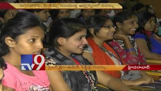girls educated on threat of cyber crimes at hyderabad meet tv9