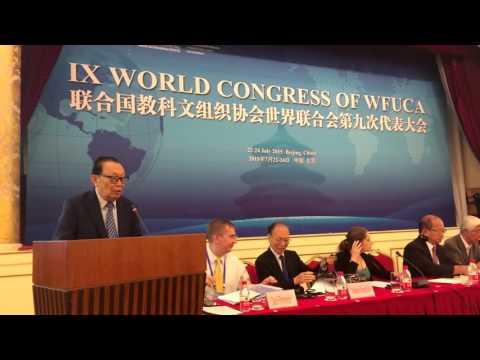Presidente da FUNVIC, Luís Otávio Palhari recebe cargo na China