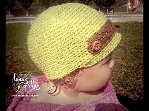 Tutorial Gorro Niño Crochet Baby Hat (English Subtitles)