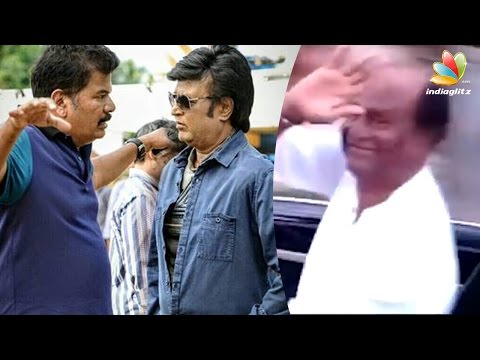 Rajinikanth-reaches-out-to-fans-despite-tight-security-Enthiran-2-0-Shooting-Spot-Latest-News
