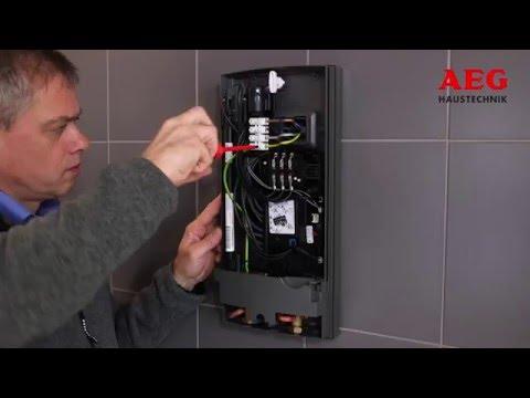 AEG Installationsvideo für elektronische Durchlauferhitzer