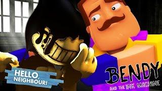Minecraft Hello Neighbour - BENDY TRICKS THE NEIGHBOUR!