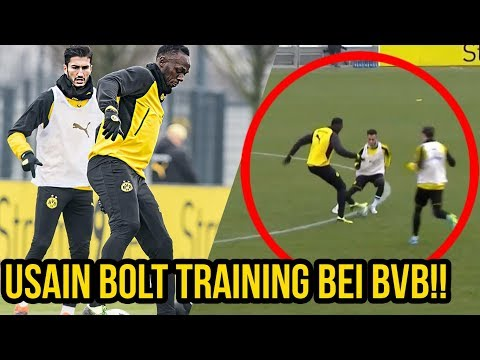 Usain Bolt zerstört BVB Profis im Training!! (видео)