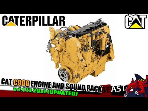 CAT C900 ENGINE AND SOUND PACK v1.1