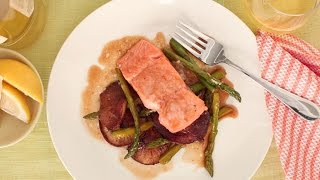 One Pan Broiled Salmon and Asparagus - Everyday Food with Sarah Carey by Everyday Food