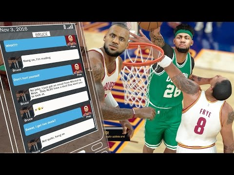 NBA 2k17 MyCAREER - Major Endorsement Text! LeBron James Last Shot with Game on the Line! Ep.17