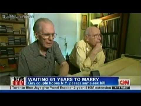 CNN - NY Gay Couple Waiting 61 Years To Marry (видео)