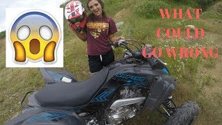 3. I LET MY GIRLFRIEND RIDE MY 2017 YAMAHA RAPTOR 700