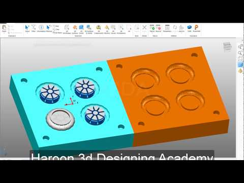 Manual Mould Designing In Powershape 2018 | Autodesk Powershape 2019