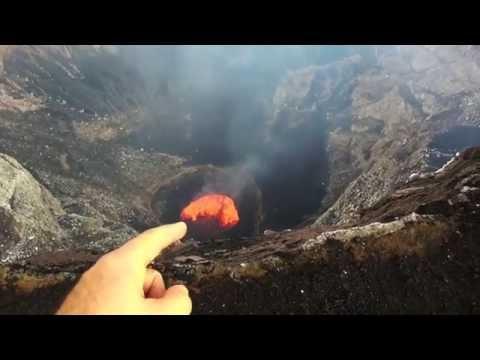 Viaje al interior de un volcán activo con una cámara GoPro