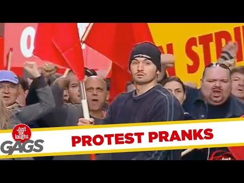 Troll Hài Hước 2015 - Protesters vs Police Prank - Throwback Thursday