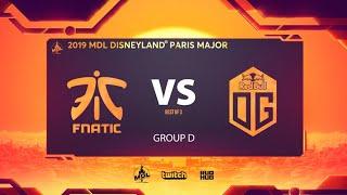 Fnatic & OG, MDL Disneyland® Paris Major, bo3, game 1 [Lost & Maelstorm]