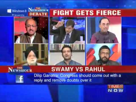 newshour - A day after Janata Party President Subramanian Swamy's allegations against Congress President Sonia Gandhi and General Secretary Rahul Gandhi, raising questi...