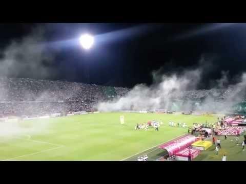 DÉCIMO día del  hincha verde. Salida espectacular. - Los del Sur - Atlético Nacional