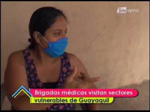 Brigadas médicas visitan sectores vulnerables de Guayaquil