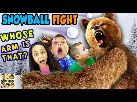GRIZZLY BEAR ATTACK! 😱 FGTEEV Family Loses Arm? ☠ SNOWBALL FIGHT Gaming Battle Challenge ❄ KING ME! (видео)