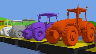 Learn Colors with Tractor & Cartoon Animation for Kids and babies | Kolory TRAKTORY dla dzieci