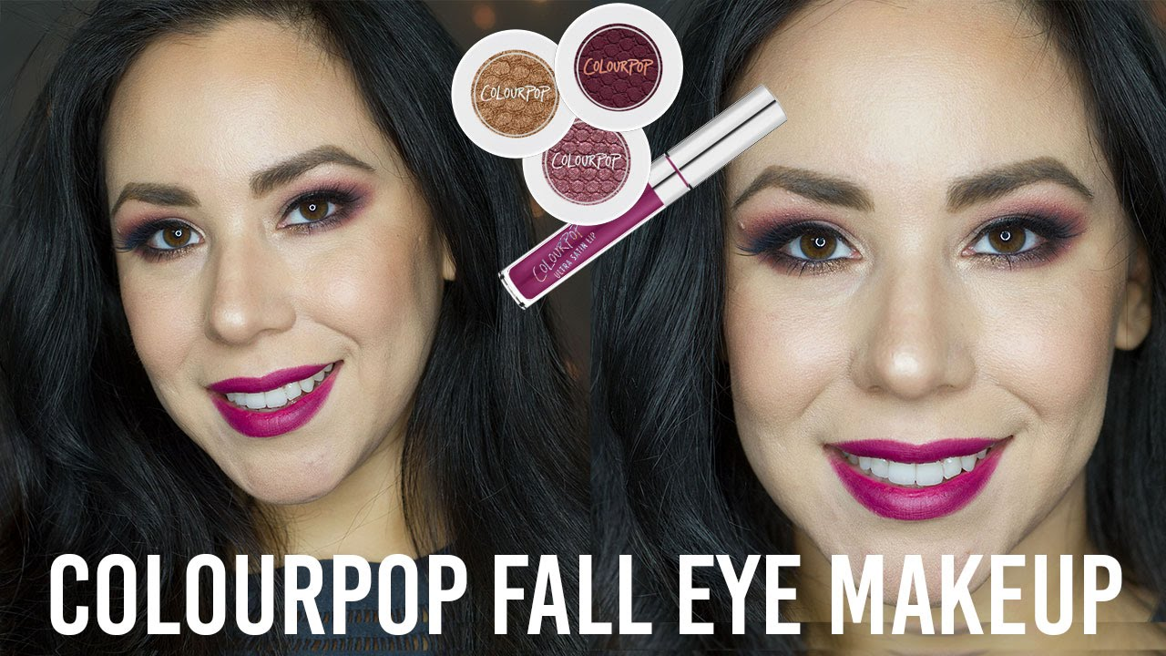 Colourpop Fall Eye Makeup Tutorial |