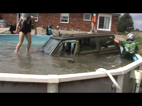 Jeep Crashes Pool – Dumb or Fun?
