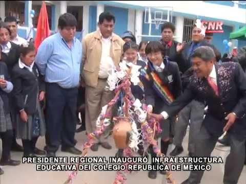 PRESIDENTE REGIONAL INAUGUR� MODERNA INFRAESTRUCTURA EDUCATIVA DEL COLEGIO REP�BLICA DE M�XICO