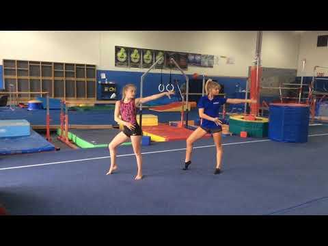 MAGMA Floor Routine Practice Tara Coach Micki (видео)