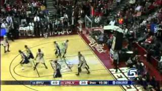 BYU's Jimmer Fredette Owning UNLV From Beyond The Arc 1/5/2011