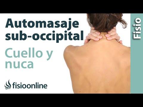 Auto - masaje de cuello, nuca y musculatura suboccipital.