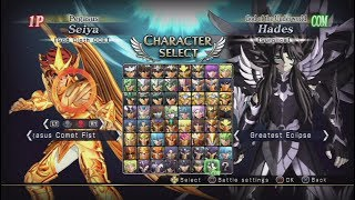 Saint Seiya: Brave Soldiers All Characters/Character select [Playstation 3/PS3]Check out the PlayStation 3 Full Playlist here:► https://www.youtube.com/playlist?list=PLTs-mgwfk_InVipZMsIsEB3LHmDbSi3vdSupport me on Patreon with just even $1 a month if you enjoy my content!► https://www.patreon.com/aubueWant to see more? Make sure to Subscribe and Like!Subscribe ► https://www.youtube.com/Aubue?sub_confirmation=1Facebook ► https://www.facebook.com/AubueTVTwitter ► https://www.twitter.com/AubueTVTwitch ► http://www.twitch.tv/AubueThank you so much for your support :)GAME INFOName: Saint Seiya: Brave Soldiers (聖闘士星矢 ブレイブ・ソルジャーズ)Developer: DimpsPublisher: Namco Bandai GamesPlatforms: Arcade, PlayStation 3Release Date: October 17, 2013Website: http://www.saintseiya-bravesoldiers.com/#SaintSeiya #聖闘士星矢 #Playstation #Gaming