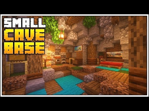 Minecraft 1.14 Small Cave Base Tutorial