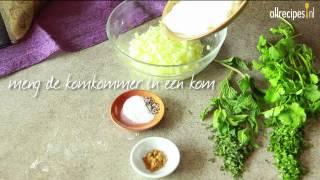 Raita met komkommer en munt