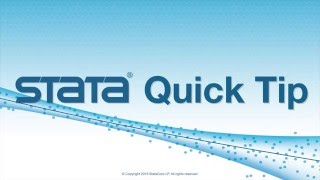 Stata Quick Tip: Partial dataset