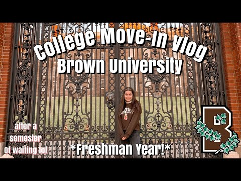 College Move In Day (Freshman Year) @ Brown University || Cecile S