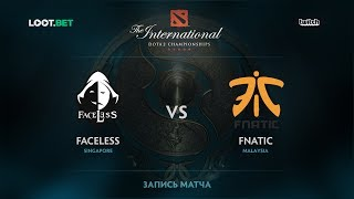 Faceless vs Fnatic, The International 2017 SEA Qualifier