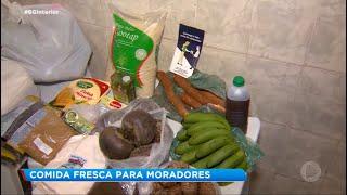Voluntários distribuem comida para pessoas carentes da região de Sorocaba