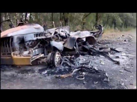 Российская колонна сожженная у села Лисичье - DomaVideo.Ru