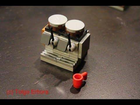 Starbucks Mastrena Espresso Machine Built in LEGO Bricks