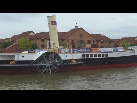 Medway Queen Leaves Bristol - 31.10.2013