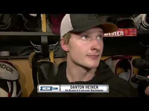 Video: Danton Heinen after the Bruins 6-3 win over Blackhawks