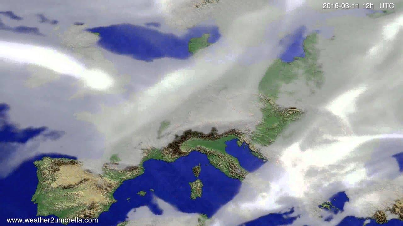Cloud forecast Europe 2016-03-07
