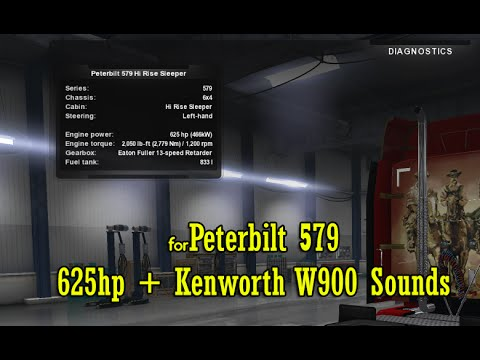 Peterbilt – 625 hp + W900 Sounds (SP/MP)