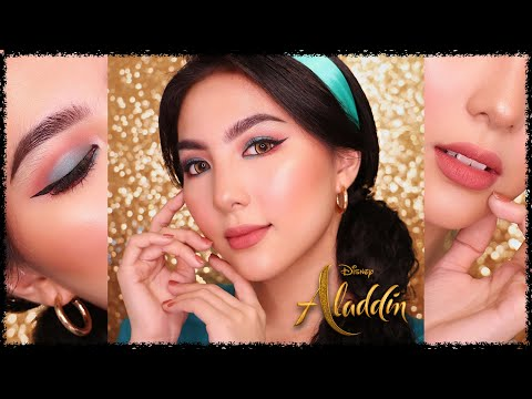 Princess Jasmine Makeup Tutorial 👑#DevDisneySeries | ALADDIN 2019