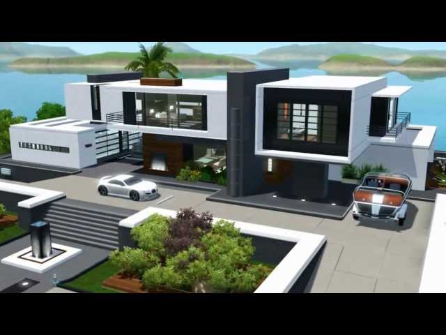 The sims 3 seaside modern house no cc for Modern house music