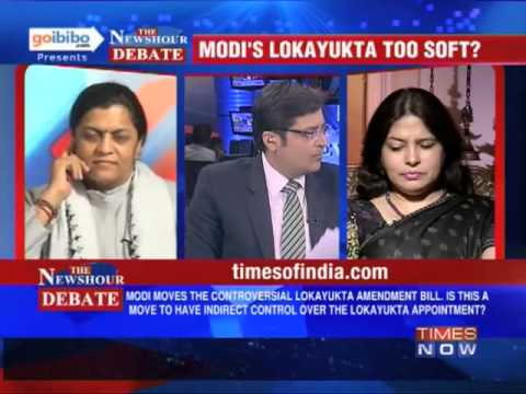 Lokayukta - In a debate moderated by TIMES NOW's Editor-in-Chief Arnab Goswami, panelists -- Meenakshi Lekhi, Spokesperson, &Mahila Morcha National Vice-President, BJP; ...