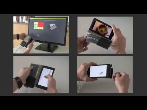 FlexCase - Enhancing Mobile Interaction with a Flexible Sensing and Display Cover (CHI 2016)